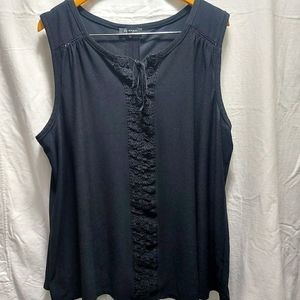 Lily Morgan blouse with embroidered design